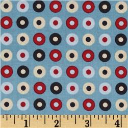 Riley Blake Detour Dots Blue Fabric