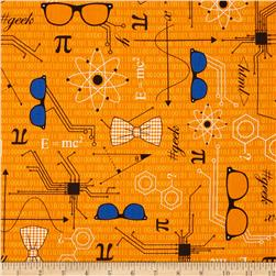 Mod Geek Eyeglasses Retro Orange Fabric