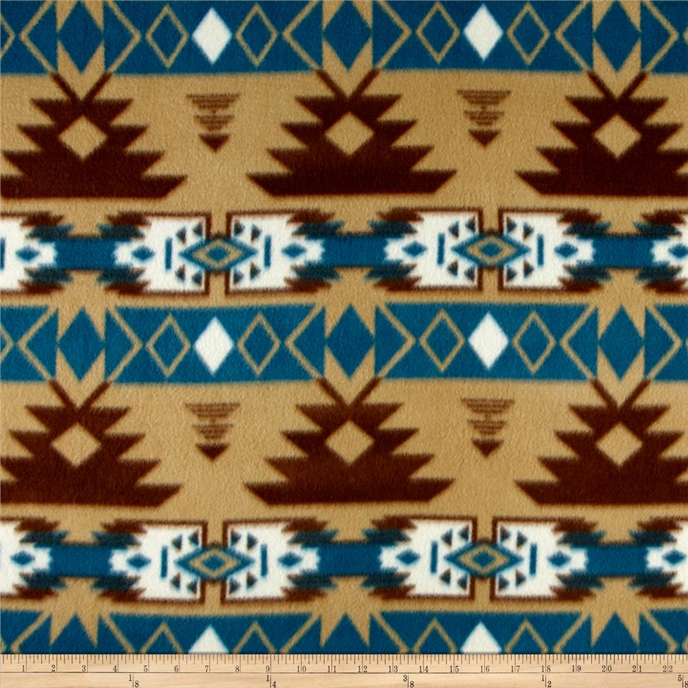 Southwest Fleece Navajo Brown/Blue