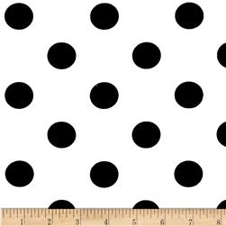 Cotton Blend Broadcloth 1 in. Black Dot On White