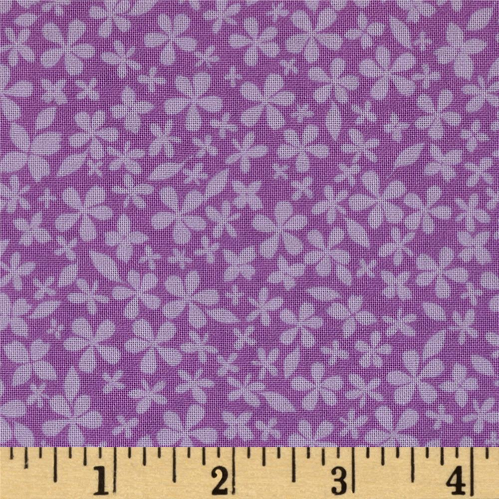 Hot House Flowers Floral Small Floral Tonal Purple