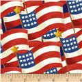 Henry Glass America The Beautiful Packed Flags Red/Multi