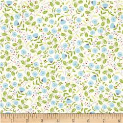 Garden Party Small Floral Blue Fabric