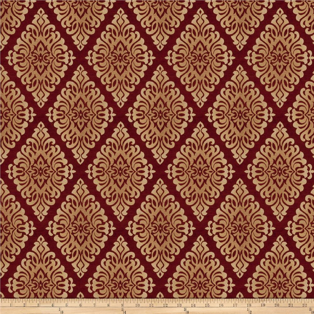 Fabricut Holiday Chenille Ruby