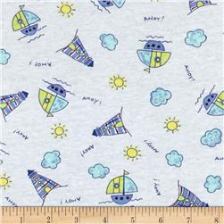 Children Cotton Knit Sails Blue