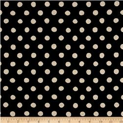 Kaufman Sevenberry Canvas Natural Dots Large Midnight