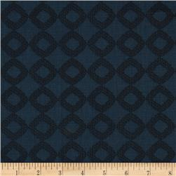 Zoe Vim Tonal Diamond Navy Fabric