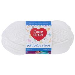 Red Heart Soft Baby Steps 9600 White