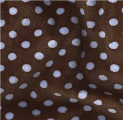 Minky Cuddle Polka Brown/Baby Blue Fabric