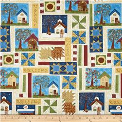 Seasons Samplers Patchwork Houses Multi