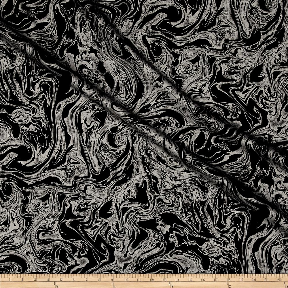 Kanvas Touch of Luxe Marble Black/Silver Metallic