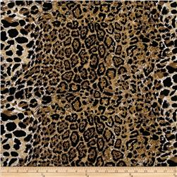 Stretch ITY Jersey Knit Animal Skin Cheetah Black/Brown