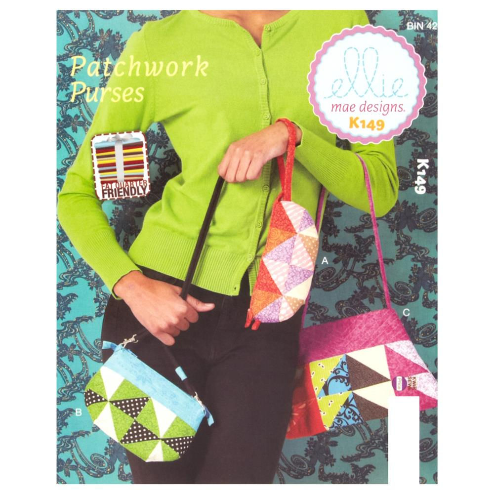 Ellie Mae Designs Patchwork Purses Pattern