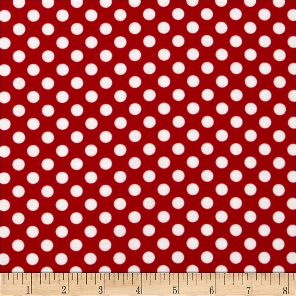 Kaufman Spot On Medium Dot Red