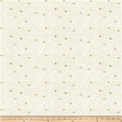 Keller Linen Embroidered Arya Sheers Ivory