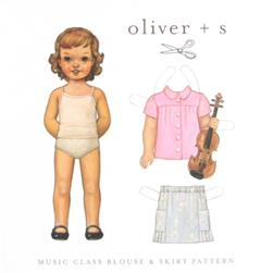 Oliver + S Music Class Blouse & Skirt Pattern Sizes 6-12 months-Size 4