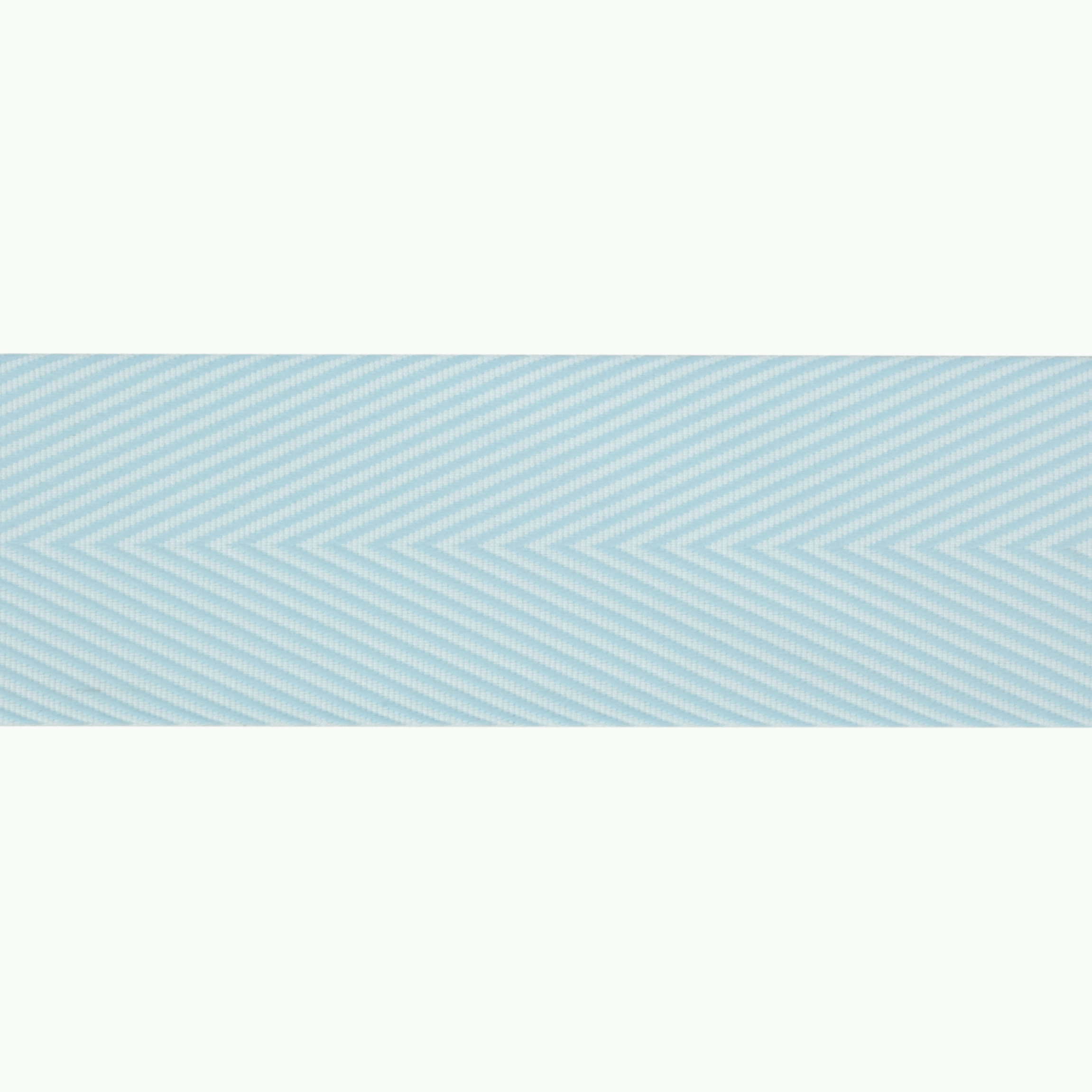 1 1/2'' Twill Tape Chevron Light Blue