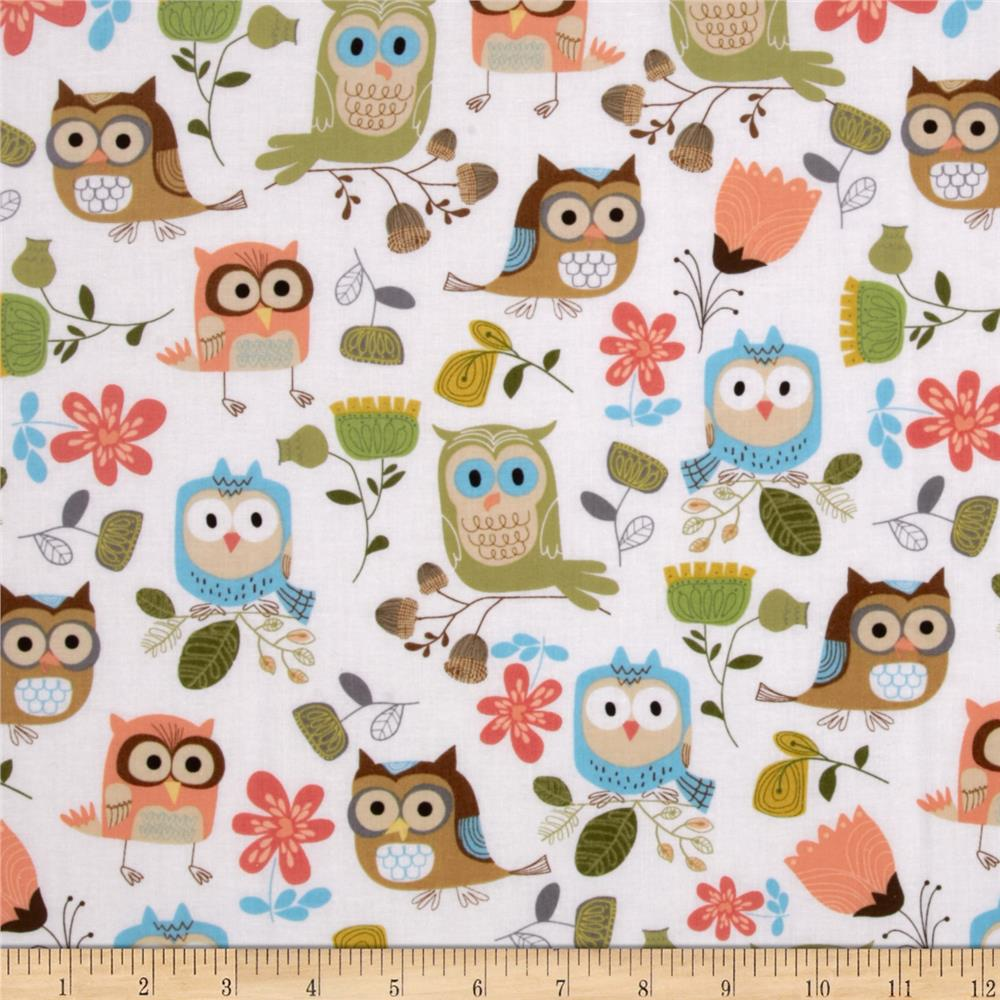 Timeless Treasures Owls White