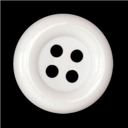 Fashion Button 1 1/2'' Pizazz White