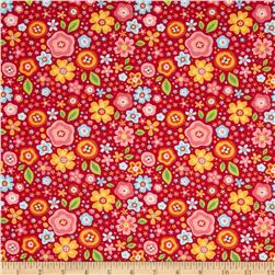 Riley Blake My Sunshine Large Floral Pink