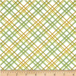 Gramercy Diagonal Square White/Green