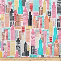 The Big Apple Sky Scrapers Multi Fabric