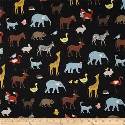 Kokka Animal Runway Black