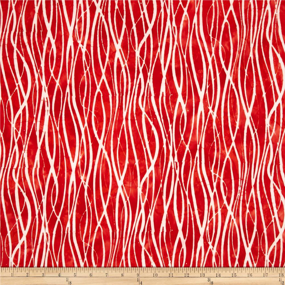 Artisan Batiks Color Source Strands Red