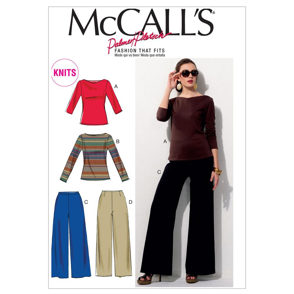 McCall's Misses' Tops and Pants Pattern M6571 Size A50