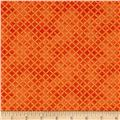 Maywood Studio Halloweenie Stitched Crosshatch Orange