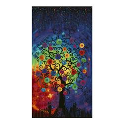 "Timeless Treasures Fantasy Forest 24"" Tree Panel Bright"