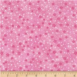 Flannel Stars Pink