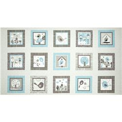 Tweet Together Panel Linen Grey