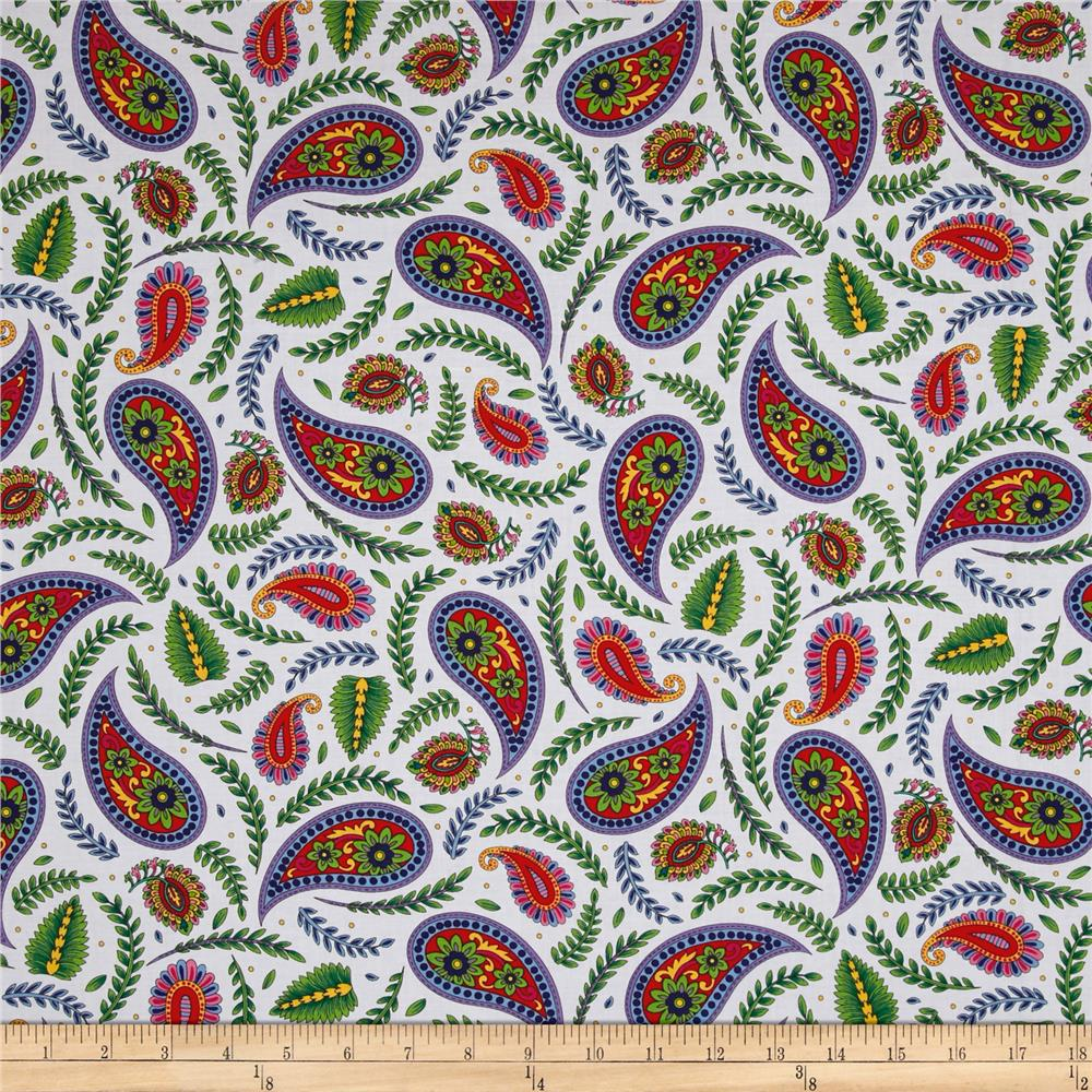 Imperial Paisley Paisley & Ferns White