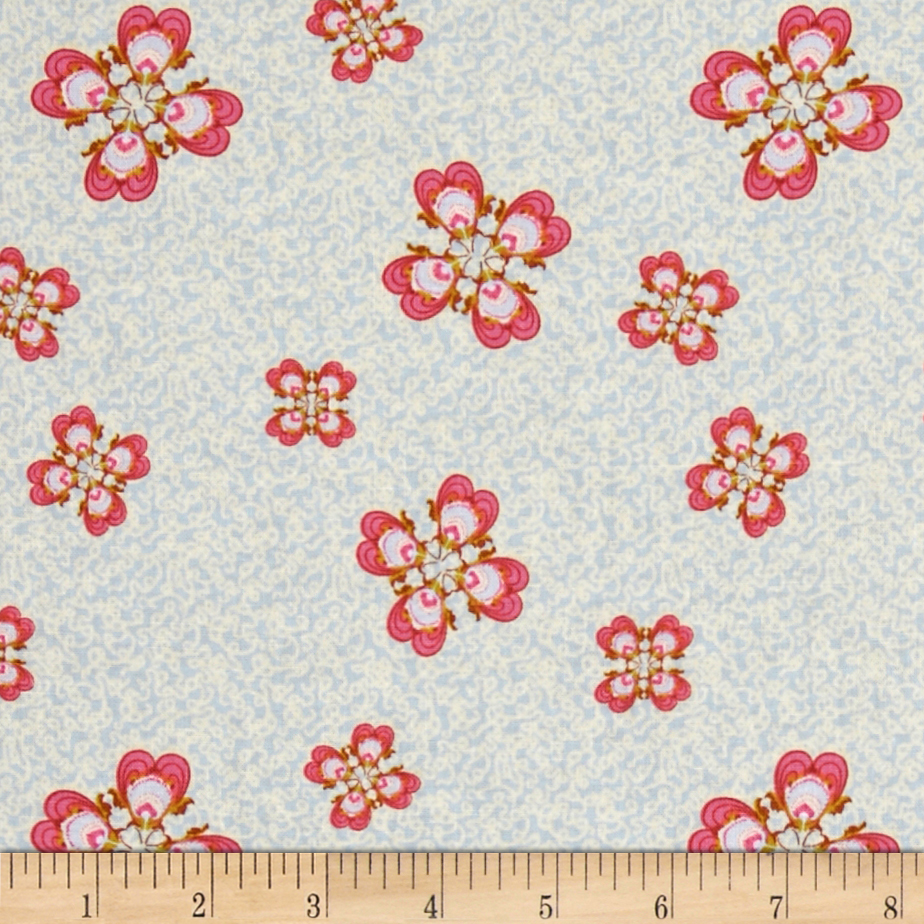 Memory Lane Looby Loo Blue Fabric