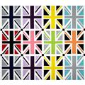 "Riley Blake Union Jack 24"" Panel Grey"