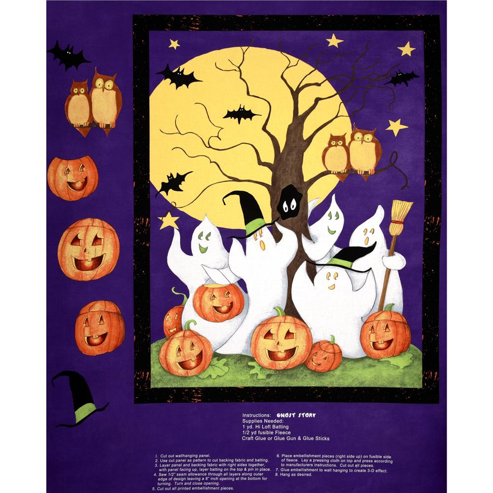 Ghost Story Wall Hanging Panel Multi