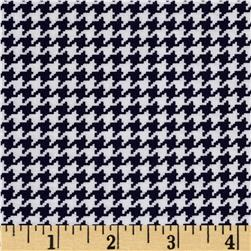 Michael Miller Tiny Houndstooth Navy Fabric