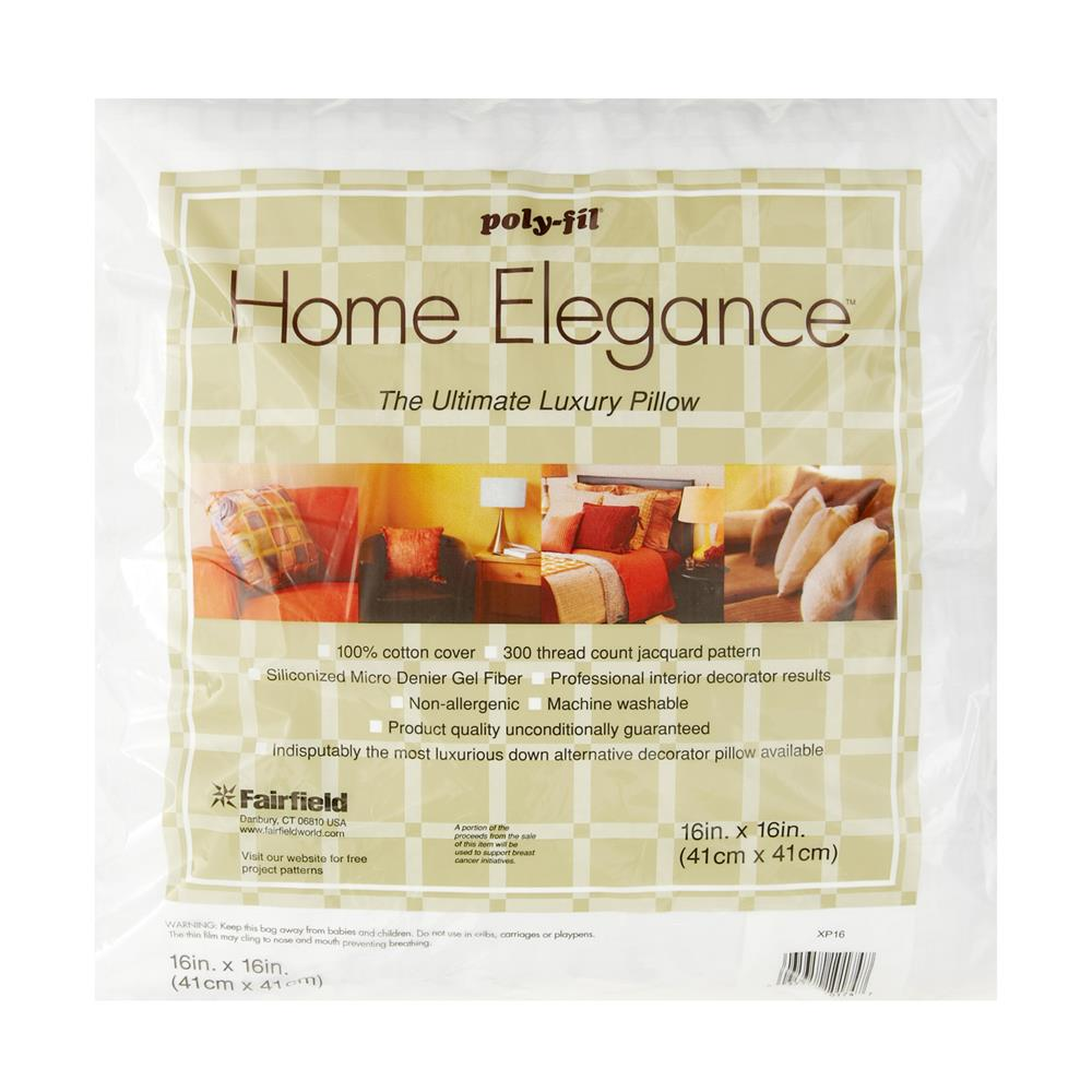 "Fairfield Home Elegance  Pillow 16"" Square"
