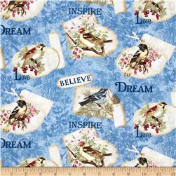 Benartex Birds of a Feather Inspiration Blue