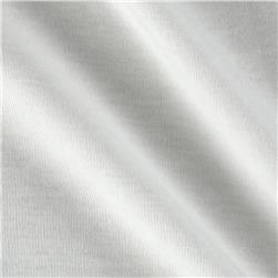 Cotton Baby Rib Knit Solid Eggshell White Fabric