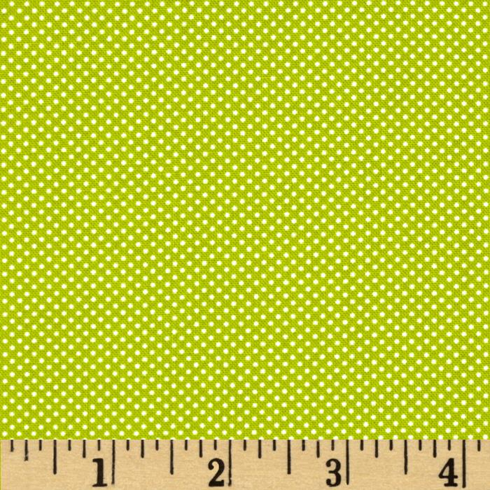 Moda Dottie Tiny Dots Pesto