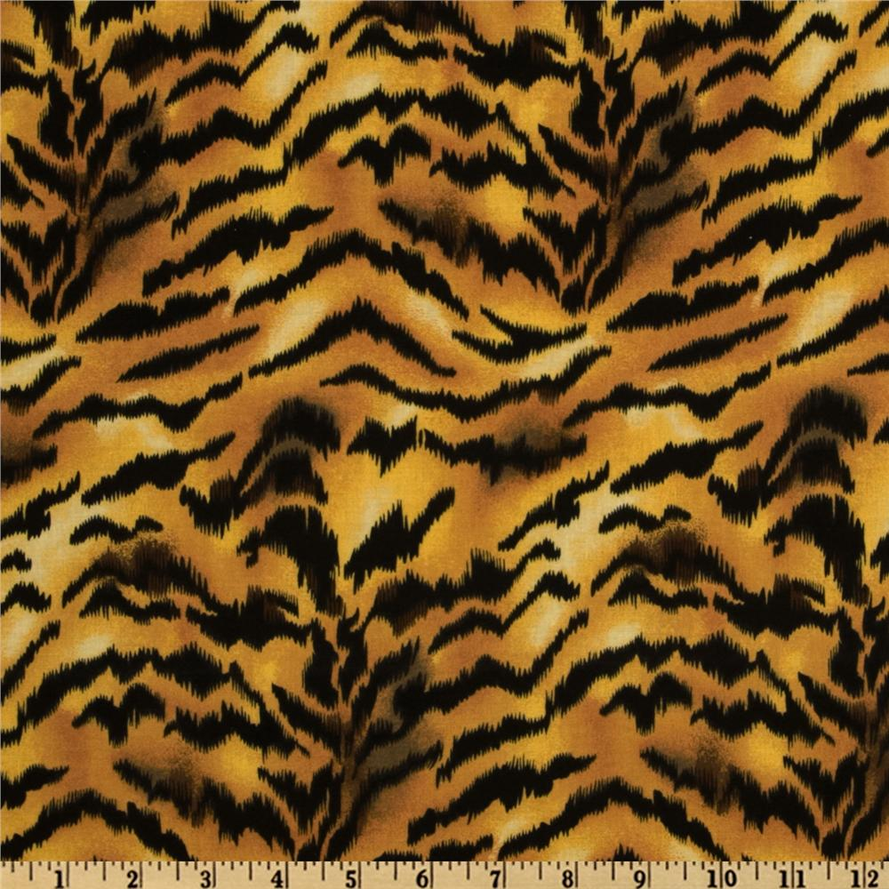 animal print tiger gold black