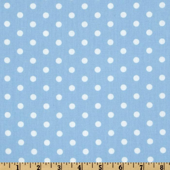 Pimatex Basics Polka Dot Pale Blue/White - Discount Designer ...