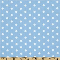 Pimatex Basics Polka Dot Pale Blue/White Fabric