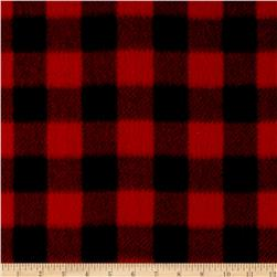 WinterFleece Buffalo Plaid Red Fabric