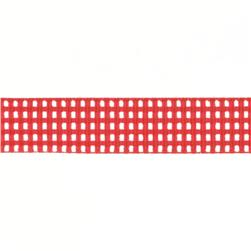 "Riley Blake 5/8"" Grosgrain Ribbon Gingham Red"
