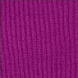 Basic Cotton Rib Knit Grape