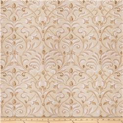 Fabricut Basinger Leaves Silk Natural Gold