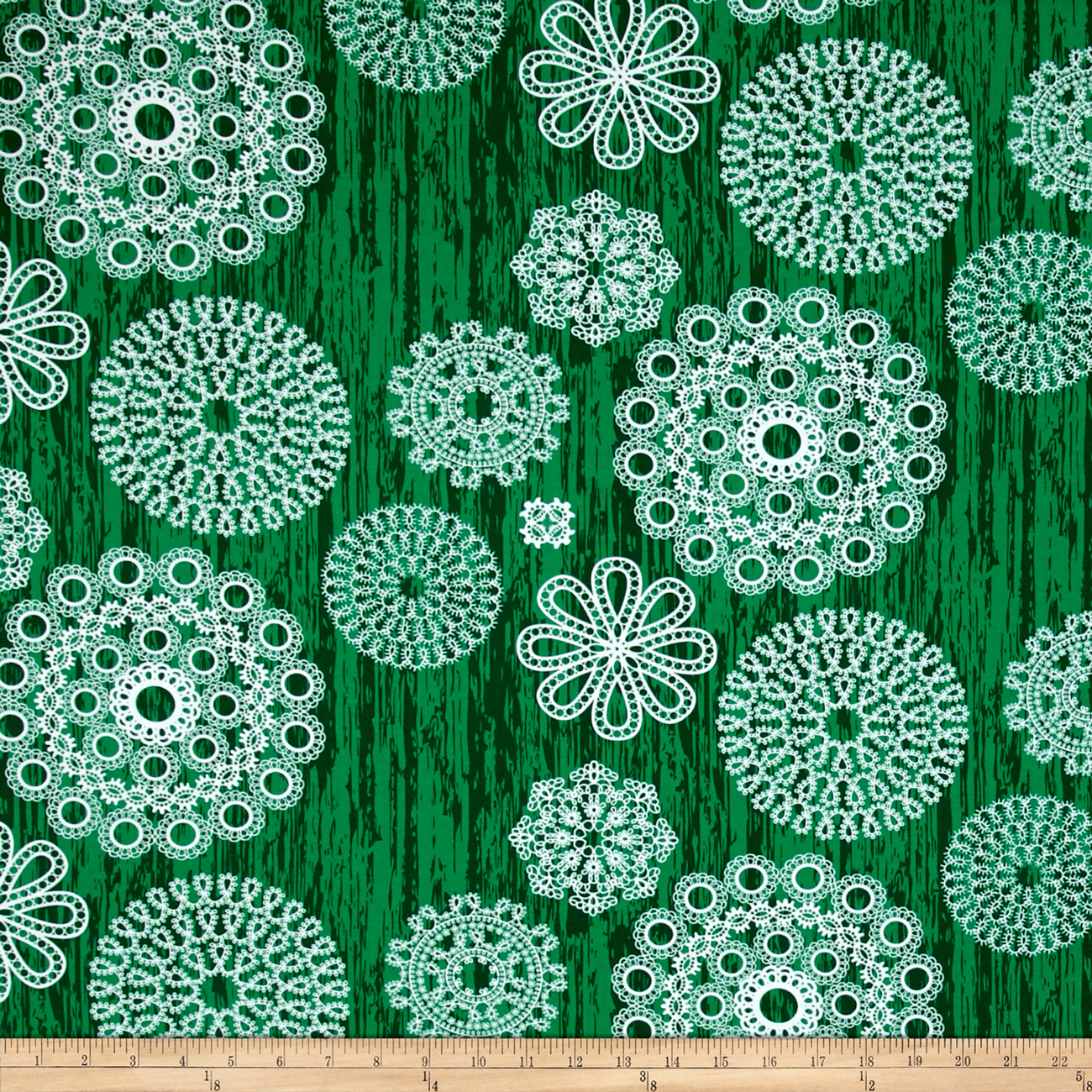 Michael Miller Brambleberry Ridge Knots and Loops Green Fabric by Michael Miller in USA